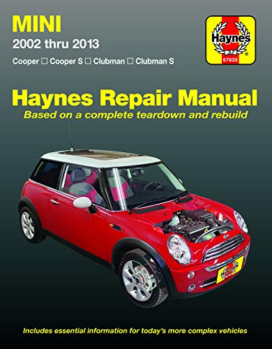 Mini Cooper, Cooper S, Clubman & Clubman S (02-13) Haynes Repair Manual (Does not include Countryman models or info specific to convertible top. ... specific exclusion noted) (Haynes Automotive)