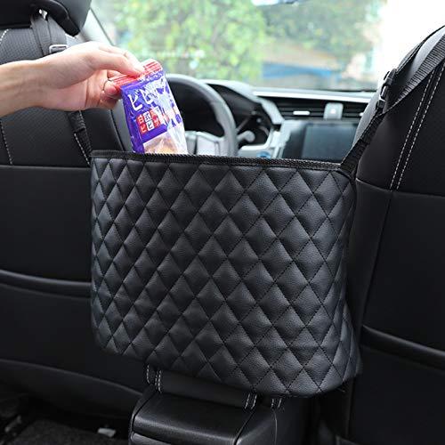 LUOSFUH Autositztasche Leder Lederhandtaschenhalter Autotaschen-Aufbewahrungsorganisator zwischen den Vordersitzen Haustiere Hund Kinder Barriere Störungsstopper für SUVs Autos