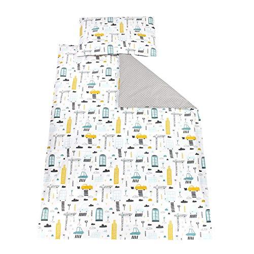 TupTam Kinder Bettwäsche Gemustert 2-Teilig, Farbe: Autos Bunt, Größe: 135x100 cm