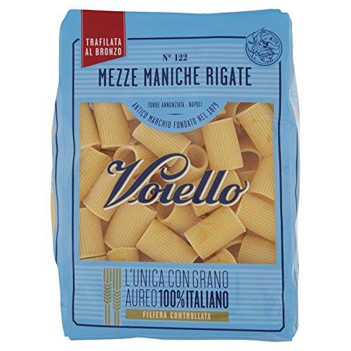 Voiello Pasta Corta di Semola Grano Aureo 100% Mezze Maniche Rigate N.122, 500g