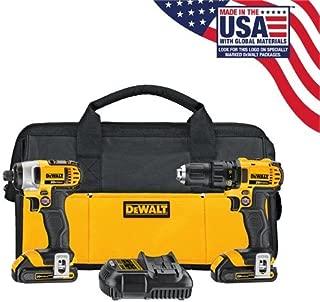DEWALT 20V MAX Impact Driver and Drill Combo Kit (DCK280C2)