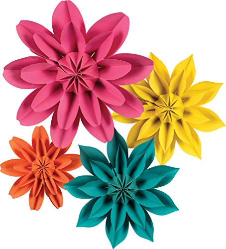 Teacher Created Resources Beautiful Brights Paper Flowers Premade Decorations for Party Photo Backdrops, Classrooms Walls, Showers and Birthday Celebrations, Model:TCR8545