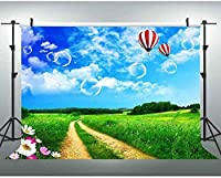 HD JSCTWCL10x7ft自然の風景の背景草青空春の写真撮影の背景ビデオ写真スタジオの小道具YouTubeの背景258