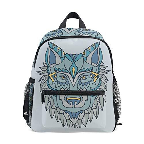 FANTAZIO Kids Rugzakken Bijzondere Wolf Schilderij School tas Bookbag Daypack