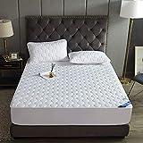 HAIBA Protector de colchón impermeable – Protector de colchón transpirable, protector de colchón sin sábana de microfibra agrietada (blanco, 200 x 220 cm)