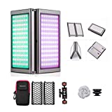 Falcon Eyes F7 Fold 24W RGB LED Light with Honeycomb Grid and Softbox, 20 Scene Effects Mode, Magnet Adsorbing, Color Picker Functions, Built-in Rechargeable Battery, Android & iOS APP Control