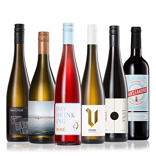 GEILE WEINE Weinpaket FRÜHLING (6 x 0,75l) Probierpaket mit Weißwein, Rosé und Rotwein von Winzern aus Deutschland und Spanien