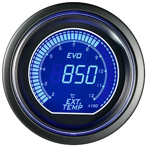 OutingStarcase 2'52mm Coche Digital Turbo Boost Gauge PSI TEMP ACEAR TEMP ACEITE PRESIÓN PRESIÓN PRESIÓN VOLTÍMER TACÓMETRO RPM METER TACOMETRO (Color : Ext temp)