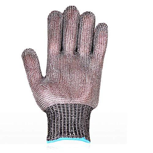 WXYZ schnittschutzhandschuhe Stahldraht Schnittfeste Handschuhe 361L Lebensmittelechte Sicherheitsarbeitshandschuhe, Für Linke Und Rechte Hand, 1 Stück (Size : Large)