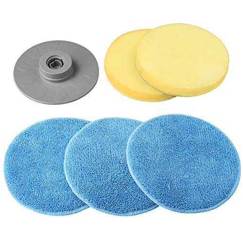 Homitt Scrubber Set for Floor, Window and Bathroom Tile Cleaning, Brush Set of Foam Scrubber and Scouring Pad for Multi-purpose Uses