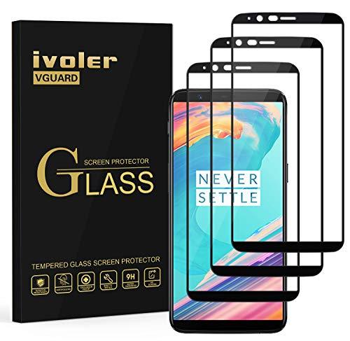 ivoler [3 Stücke] Panzerglas Schutzfolie für OnePlus 5T, [Volle Bedeckung] Panzerglasfolie Folie Hartglas Gehärtetem Glas BildschirmPanzerglas