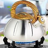 ASDFDG Estufa Top Tetera Manija ergonómica Resistente al Calor Tetera de Tetera de Acero Inoxidable Tetera de Silbato Adecuado para Cocina Superior de Cocina Comedor (Size : 3L)