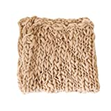 Coberllus Newborn Baby Photo Props Blanket Handmade Knitted Twist Wrap Posing Aid Backdrops For Boy Girls Photography Shoot (Camel color)