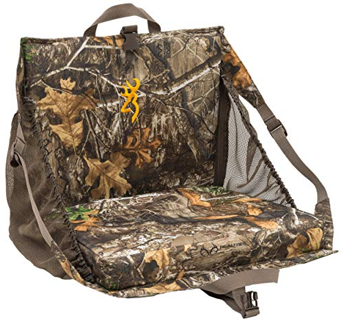 Browning Camping Tracker + XT Seat, Realtree Edge, 17-Inch x 33-Inch x 2.25-Inch