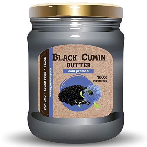 Black Cumin Seed Butter Spread - Non GMO - No Sugar Added Healthy - Rich in Fiber - Iron Superfood