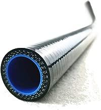 I33T 1 Meter Straight Silicone Coolant Hose Coupler Tube Inner Diameter 0.87 Inch (22 mm) Length 3.28 Feet Black