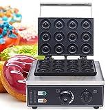 Máquina para hacer donuts, magdalenas y cakepops, Sweet Dreams, revestimiento antiadherente, 1-5 minutos para una bandeja (12 unidades de 9 cm)