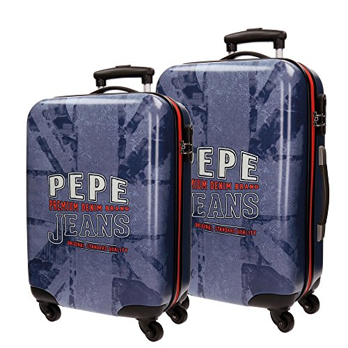 Pepe Jeans Dales Jr Maleta, 68 cm, 97 litros, Set de 2, Azul