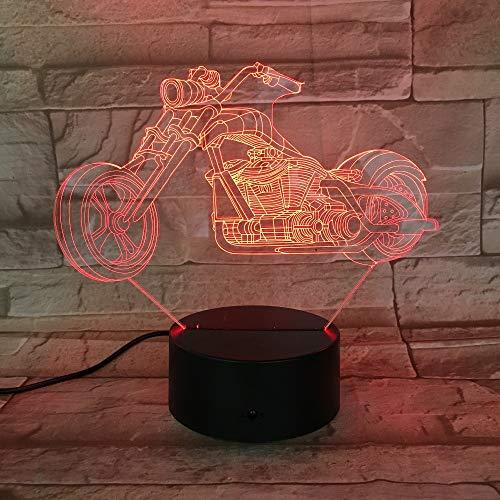 QAZEDC 3D nachtlampje motor bike nachtlampje 7 kleuren wijzigen 3D LED-lamp reuzenfiets acing motorfiets draagbare verlichting vrienden kinderen verjaardag licht (gratis verzending)