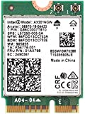 MQUPIN Tarjeta de red inalámbrica Dual Band AX201NGW 2.4Gbps 802.11ax Wireless Intel AX201 WiFi Card Bluetooth 5.0 para Windows 10, 64-bit, Google Chrome OS, Linux (sistema de núcleo 5.2 arriba)