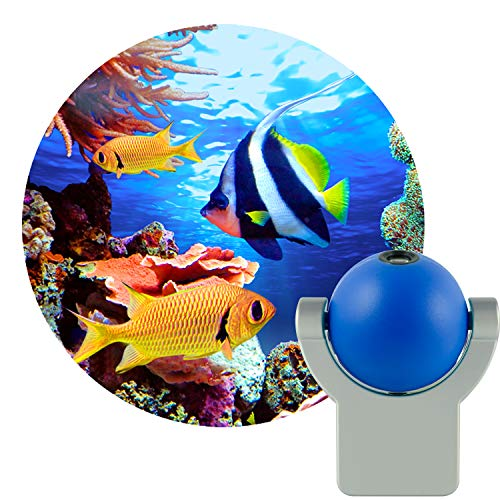 Projectables Tropical Fish LED Automatic Night Light, 11296