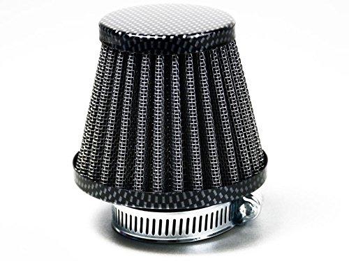 Sport Luftfilter Yamaha 50, 80, 125 ccm Stahlgewebe 35mm und 28mm Anschluss Carbon Design