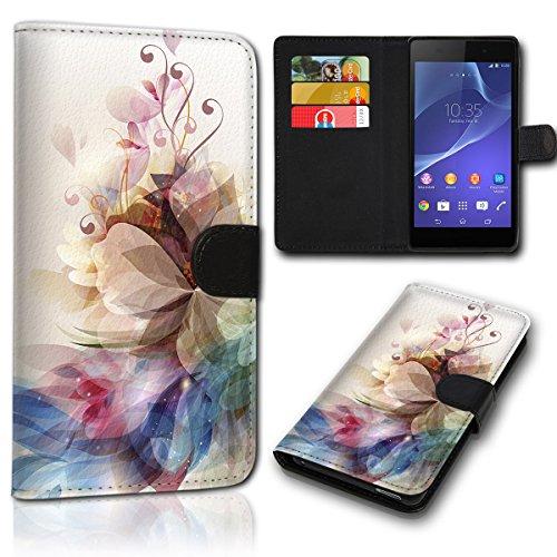 sw-mobile-shop Book Style Wiko Sunset 2 Tasche Flip Brieftasche Handy Hülle Kartenfächer für Wiko Sunset 2 - Design Flip NEW47