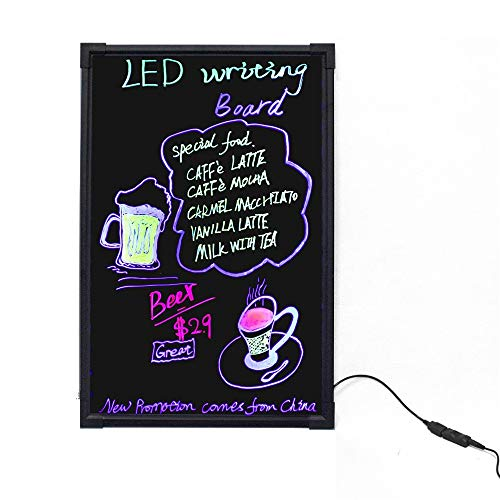 HO-TBO Bacheche messaggi e insegne Messaggio Forum LED Lampeggiante Illuminato cancellabile Messaggio Memo Avviso Menu Bordo del Segno con Telecomando Banco di Mostra attività