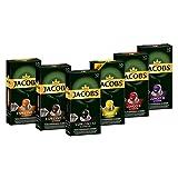 Jacobs Kaffeekapseln, Probierbox Nespresso®* kompatible Kapseln mit 6 verschiedenen Sorten, 6 x 10...