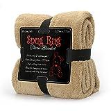 Snug Rug Special Edition Luxury - Manta de Lana Sherpa, 127 x 178 cm (Sand Beige)