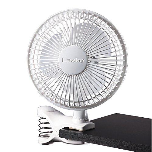 Lasko FBA 2004W 2-Speed Clip Fan, 6-Inch, White, One Size, 2004