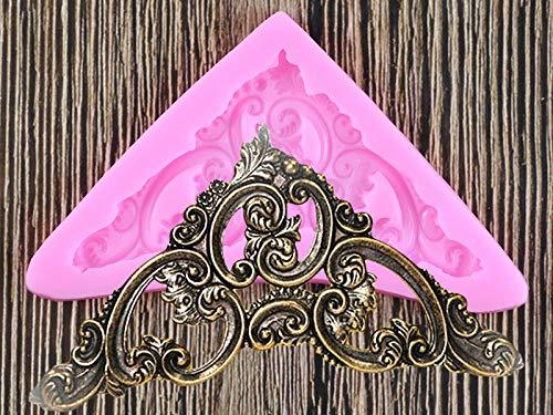 DIY barroco Scroll Relief Silicone Mold Fondant Chocolate Candy Mold Cake Decoración Herramientas Cocina Hornear Herramientas Polímero Arcilla