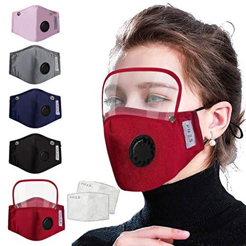 5PCS+10 Filter New Fashion 2020 Men Women Adults Washable Reusable Cotton Comfortable Face Mouth...