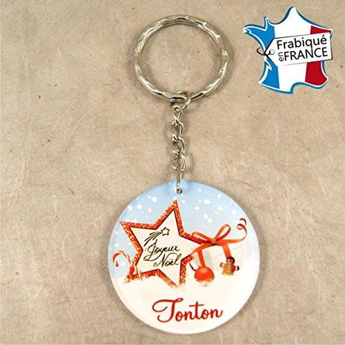 Porte Clef – Joyeux Noël Tonton (Cadeau de Noël pour Tonton - décoration de Sapin)