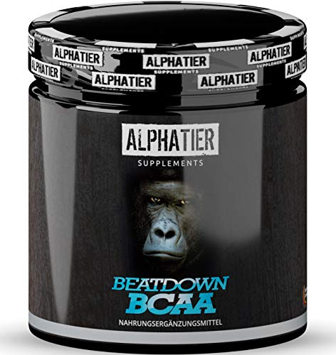 BCAA Capsules - 360 Mega Caps at 750 mg - 2:1:1 high Dosage - Essential Amino Acid Complex - ALPHATIER BCAAs Without Magnesium Stearate - Made in Germany - Amino Supplement