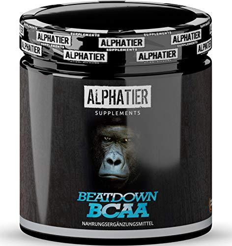 BCAA Kapseln hochdosiert + vegan - 360 Mega Caps - 2:1:1 Aminos - essentielle Aminosäurekapseln - ALPHATIER BCAAs ohne Zusatzstoffe und Gelatine - Amino-Komplex Supplement
