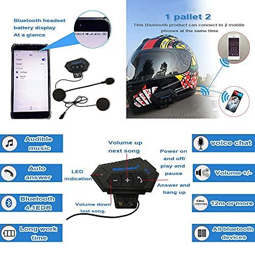 BDTOT Casco de Moto Modular Bluetooth Integrado Dot/ECE Homologado con Doble Visera en Integrado de Intercomunicación Sistema de Comuni Adultos Unisex Respuesta Automática Capucha Gratis