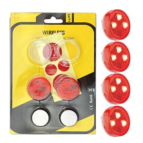 Luces de Advertencia de la Puerta del Coche, Luces de Seguridad LED Abiertas con Rojo Estroboscópico Intermitente Magnético Luces de Advertencia de Seguridad Encendido/Apagado Automático(Paquete de 4)
