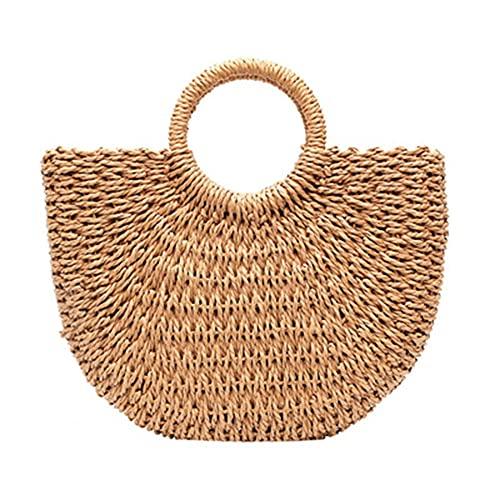 Bolsos de paja para mujer, bolsa de playa, bolsas tejidas a mano, regalo de cumpleaños para amigos y damas