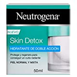 Neutrogena Skin Detox Crema Hidratante Doble Acción para Cutis Radiante, Piel Normal y Mixta, 50 ml