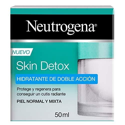 Neutrogena Skin Detox Crema Hidratante Doble Acción para Cutis Radiante, Piel Normal y Mixta, 50 ml