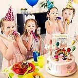 iZoeL Tortendeko Einhorn Geburtstag Kuchen Regenbogen Happy Birthday Girlande Luftballon Wolke Kuchen Topper für Kinder Mädchen Junge - 5