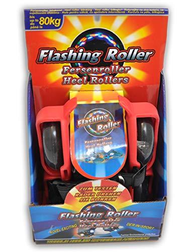 jameitop®💥Fersenroller 3-Front-LED Licht Schuhe Roller rot Rollschuhe zum umschnallen 💥