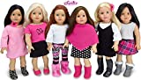 Sophia's American Girl Sized Mix and Match Fall Set Black, White and Pink Doll Clothes, Complete Wardrobe of 11 Pieces   Budget Friendly Line   Doll Sold Separately