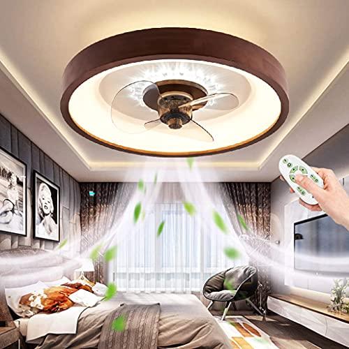 Ventiladores de techo con mando a distancia LED Lámpara de Techo con ventilador regulable Silencioso Ajustable 3 velocidades Luz Del Ventilador para InfantilDormitorio Salón
