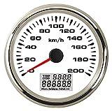 HUILING September Department Store 85mm GPS velocímetro Velómetro 0 200 KM H velocidad odómetro kilometraje 9 32 V con 8 diferentes luz de fondo disponibles (color: WS)