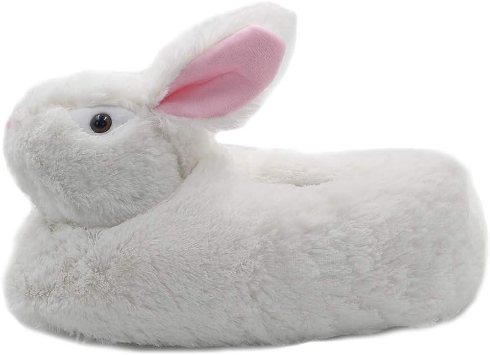 Millffy Classic Bunny Slippers Adult Sized Plush Slippers Kids Size Animal Slippers Shepherd Dog Corgi Costume Footwear