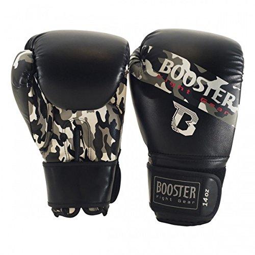 Booster Boxhandschuhe BT Sparring - Grey Camo - Coole Boxhandschuhe für Boxen MMA Kickboxen Sparring Muay Thaiboxen Training (10 Unzen)