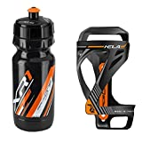 Raceone - Kit Race Duo KELA (2 PCS): Porta Bidon KELA + Bidon de Ciclismo XR1 Bici Carrera de Ruta/Bicicleta de Montaña MTB/Gravel Bike. 100% Made IN Italy