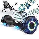 SOUTHERN WOLF Hoverboard con hoverkart, Hoverboards con Sedile, Hoverboard per Bambini con Altoparlante Bluetooth da 6,5 Pollici,Luci a LED per Le Ruote, con Sedile per Go-Kart, Regalo per Bambini